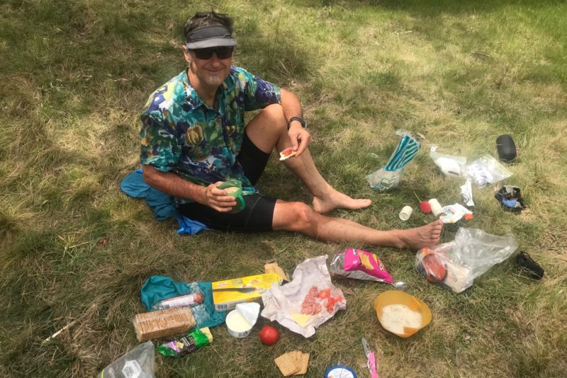 Picnic lunch at a lovely camping area alongside the Broken Cart Fire Trail
