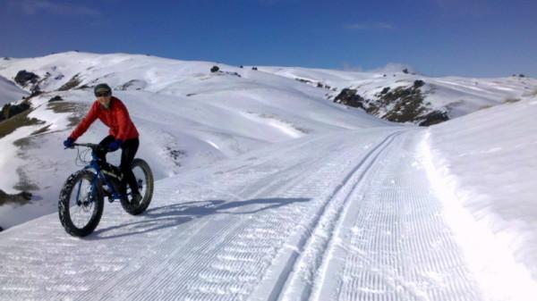 Enjoying the Snow Farm tracks