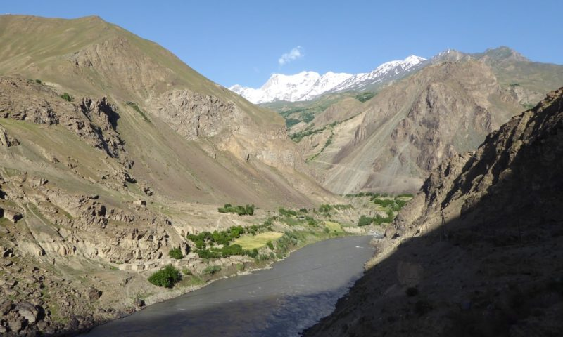 Looking back to some high Afghan peaks