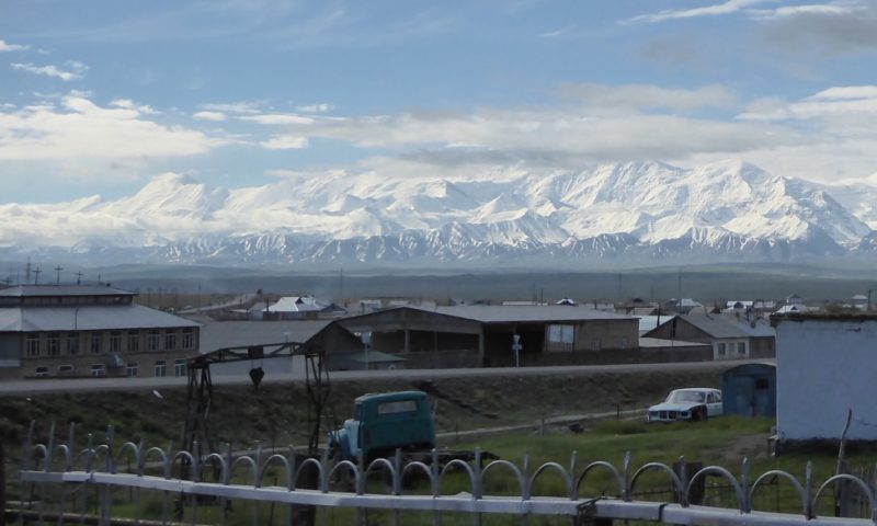 The northern (Kyrgyzstan) face of the Pamirs as seen from Sary Tash