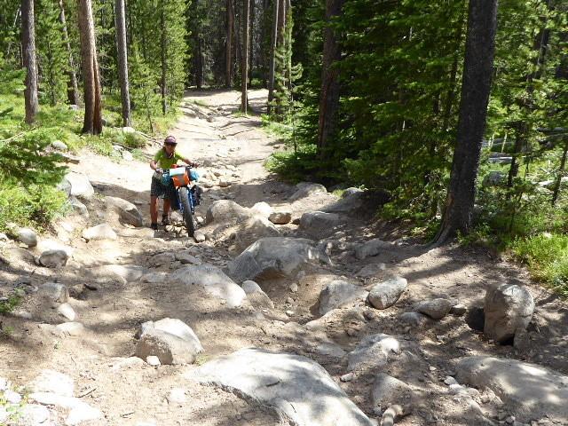 Short hike-a-bike uphill