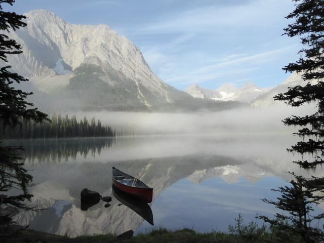 Morning magic at Lower Elk Lake