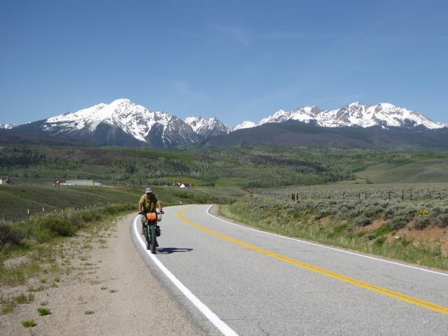 Enjoying the climb to Ute Pass