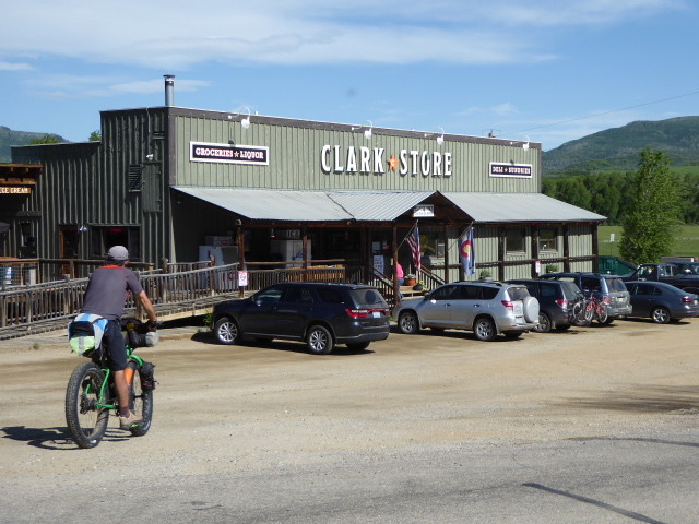 Time for tea and muffin at Clark's store